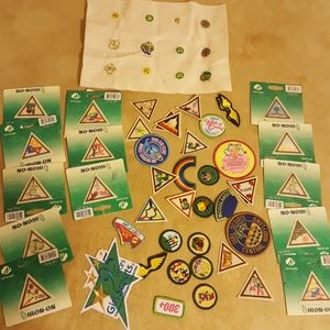 Girl cout badges and pins